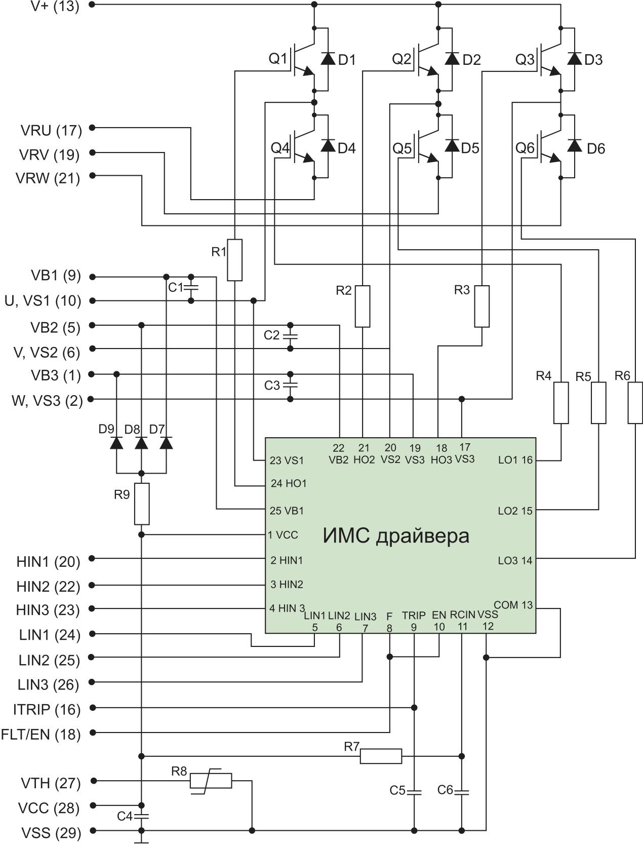Электрическая схема модуля IRAM1361561A