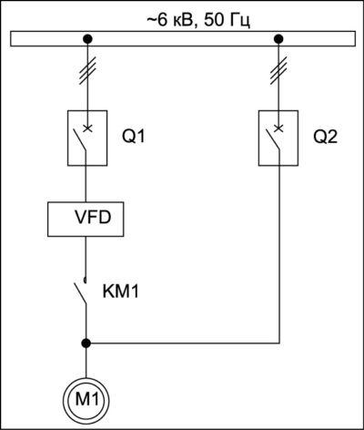 Схема для реализации синхронного переключения ЭД