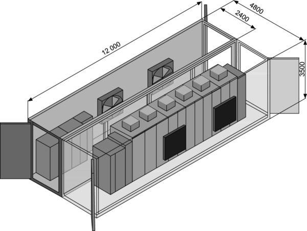 Схема компоновки БК с ПЧ 1600 кВ