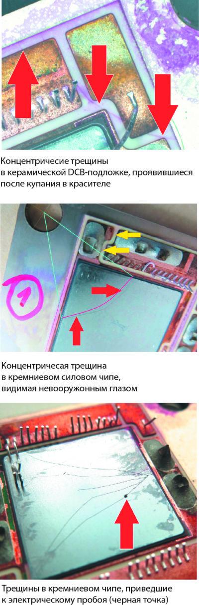 Примеры повреждений кремниевых кристаллов и подложек