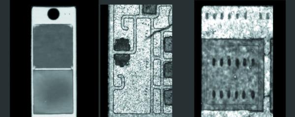 УЗ-сканирование паяного шва модуля MIFA. Микротрещина DBC-подложки. Диффузия в зоне УЗ-сварки