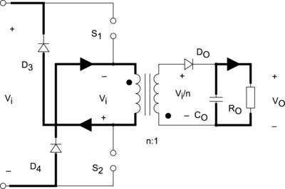 Режим возврата накопленной энергии в схеме, представленной на рис. 1, в условиях nVo>Vi