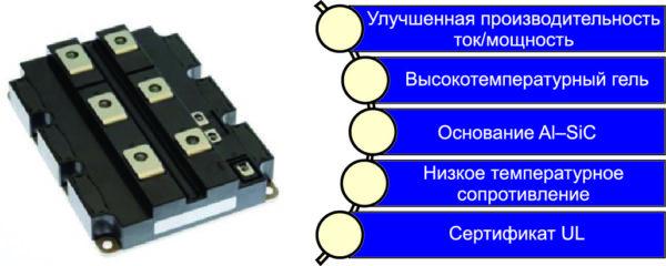 Особенности одиночных модулей 1700 В X-серии