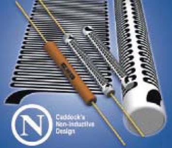 Типовая конструкция аксиального резистора Caddock