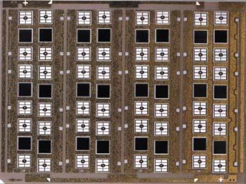 """DBC-плата 5×7"""" cчетырьмя керамическими подложками(долазерной резки) соспеченными чипами"""