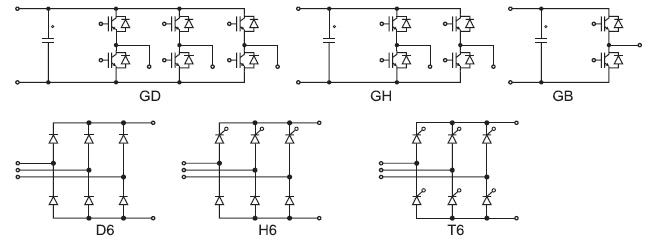 Варианты схем инвертора и выпрямителя SEMIKUBE