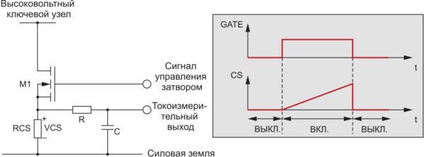 Традиционная схема измерения тока с измерительным резистором