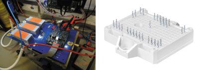Тестовый инвертор с модулем SK200MB120TSCE2 и драйвером SKYPER 12, корпус SEMITOP E2.