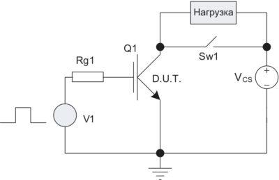 Режим короткого замыкания IGBT (упрощенная схема)
