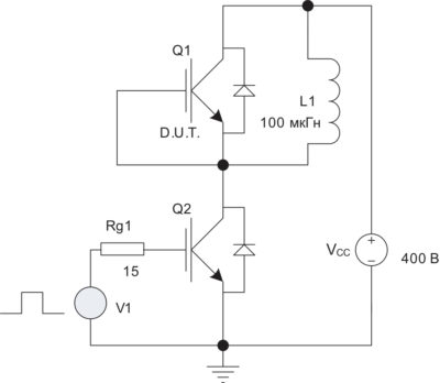 Тестовая схема с индуктивной нагрузкой