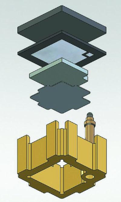 Ключевой элемент Press-Pack IGBT — ячейка из одного IGBT-кристалла