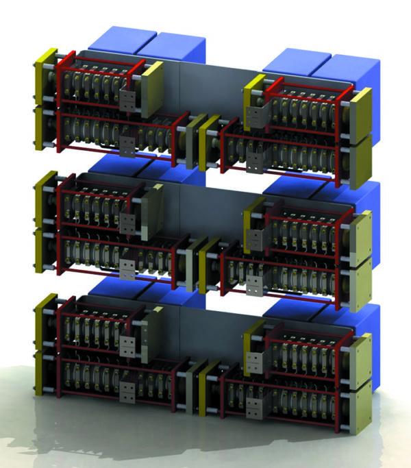 Возможная конфигурация преобразователя мощностью 18 МВт, 6,6 кВ для высоковольтного частотного электропривода