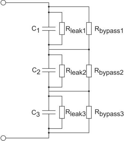 Сбалансированное последовательное соединение суперконденсаторов
