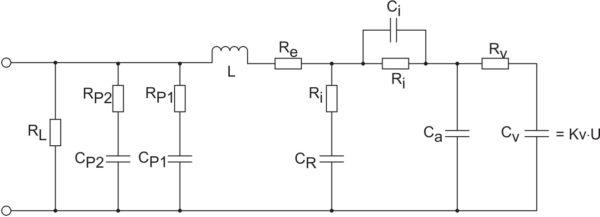 Эквивалентная электрическая схема суперконденсатора [35]