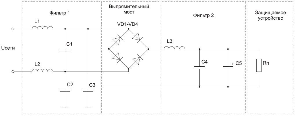 Принципиальная схема УЗИП