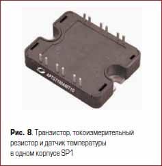 Силовой транзистор, токоизмерительный резистор и датчик температуры в одном корпусе SP1