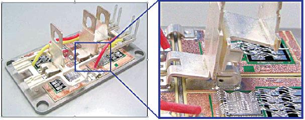 Конструкция шины питания полумостового модуля IGBT SEMITRANS