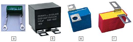 Конструкции снабберных конденсаторов
