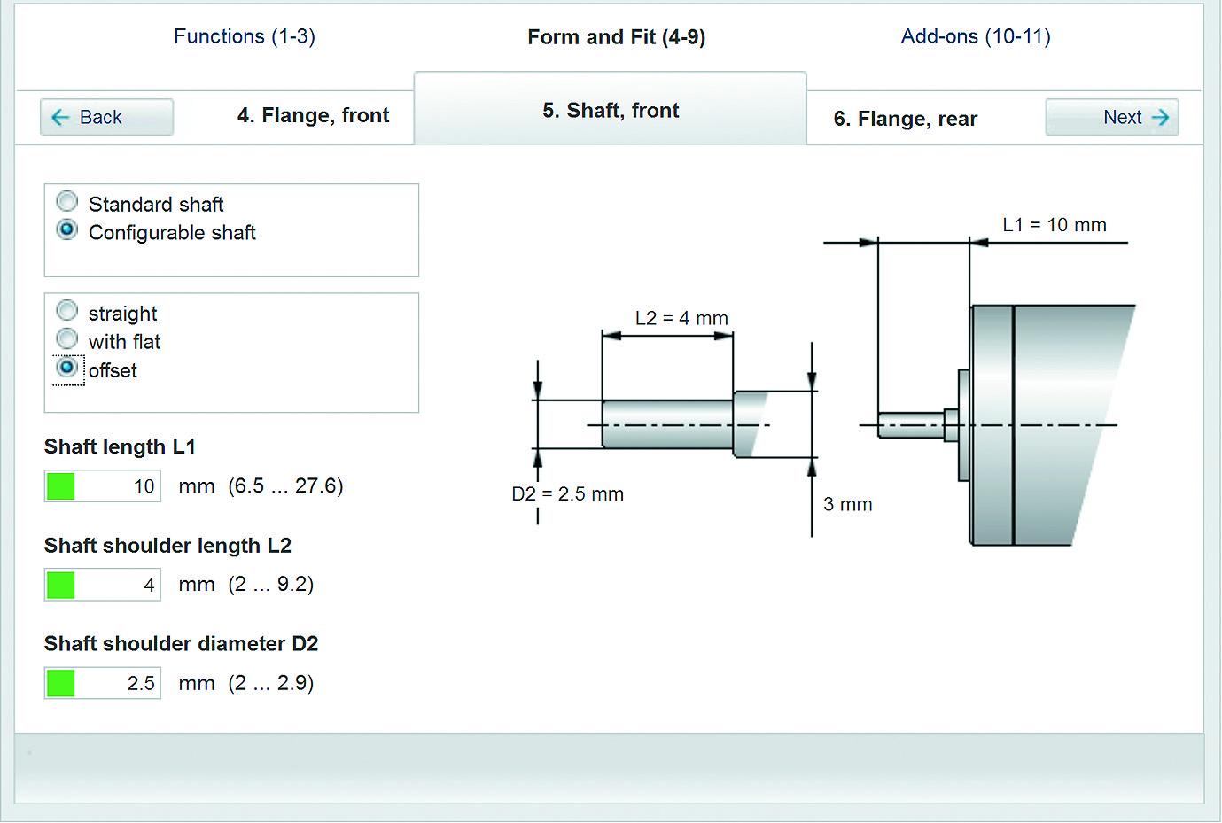 Пример конфигурации вала двигателя