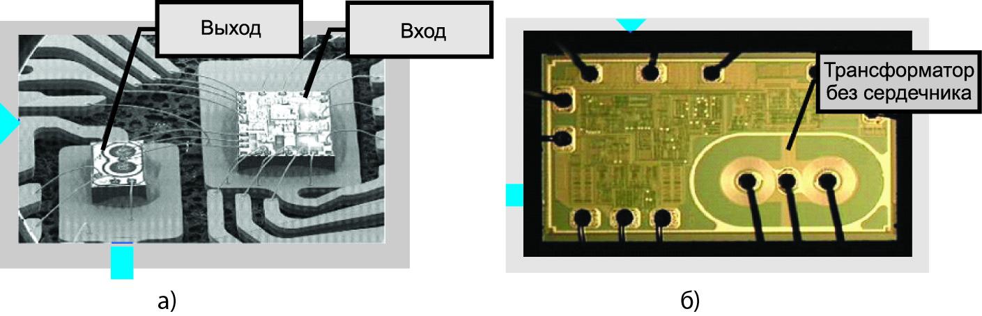 Гальваническое разделение входа (Input Side) и выхода (Output Side) драйвера с помощью тонкопленочного трансформатора без сердечника
