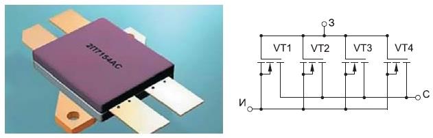 Металлокерамический корпус транзистора 2П7154АС