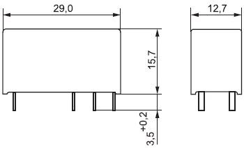Размеры реле
