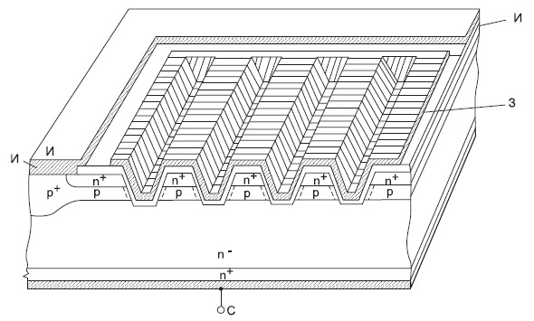 МОП-транзистор с U-образной канавкой (UMOS)