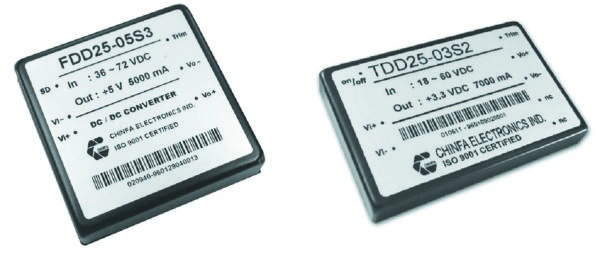Преобразователи серии FDD25 и TDD25 производства компании Chinfa Electronics
