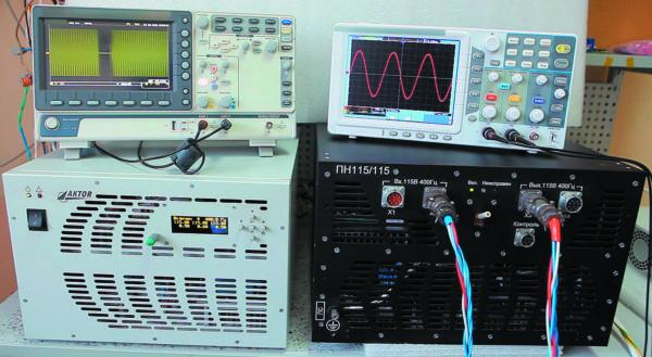Проведение испытаний ПН115/115 на воздействие переходных искажений СЭС. Провал напряжения на 120 мс