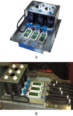 Конструктив 3-фазного инвертора IGBT на моделях SEMJX3