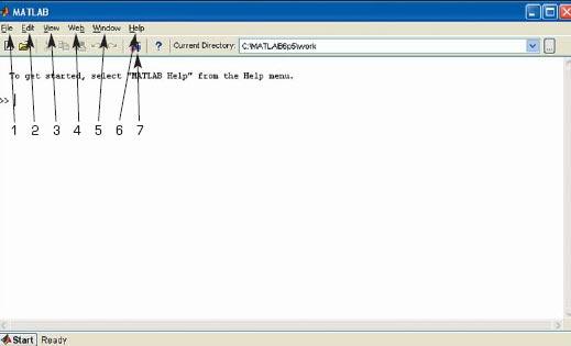 Командное окно системы MATLAB 6.5