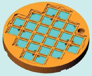 Корпус диаметром 75 мм с электродами управления в сборе