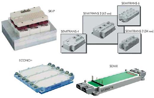 Типы корпусов IGBT-модулей