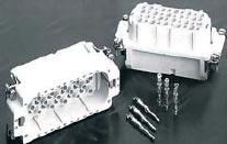 Изоляционные вставки серии HD для контактов-штырей (слева) и для контактов-гнезд (справа)