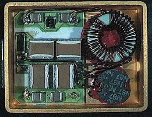 Рис. 5. Конструкция помехоподавляюшего фильтра FMT-461 (крышка снята)