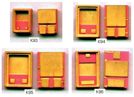 Рис. 3. Внешний вид металлокерамических корпусов типа SMD