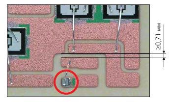 Положение термодатчика на DBC-подпожке