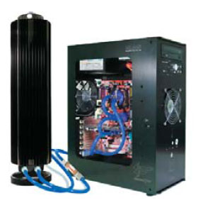 Жидкостная система охлаждения фирмы Zalman, установленная на серийном компьютере