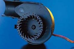Рис. 15. Часть корпуса и крыльчатка радиального вентилятора
