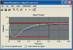 Окно блока Signal Constraint в Simulink