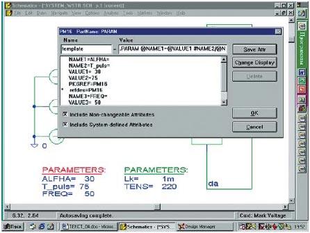 Панель атрибутов графического символа PARAM