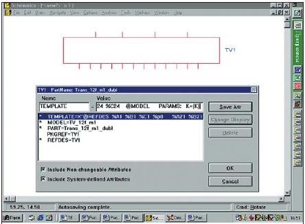 Вид чертежа графического символа пятиобмоточного трансформатора и панели его атрибутов
