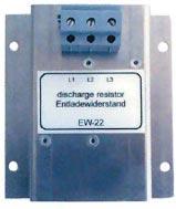 Резистор EW-22 производства EPCOS AG для разряда КБ, управляемых тиристорными контакторами, установленный на монтажной панели