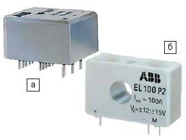 Датчики тока МР (а) и EL (б) для установки на печатную плату