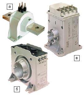 Датчики тока для электротяги CS (а), ЕА (б) и NK (в)