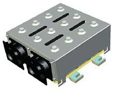 Рис. 3. Внешний вид конструкции блока ЭК трехфазного IGBT$инвертора единичного модуля SEMIKUBE (выходная мощность до 900 кВт) компании SEMIKRON