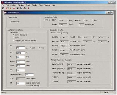 Рис. 1. Основное окно программы MELCOSIM
