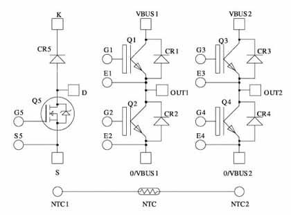 Схема IGBT модуля для инверторной техники