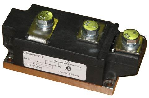 Диодно-тиристорный модуль для применения в схемах источников питания преобразователей частоты для индукционного нагрева