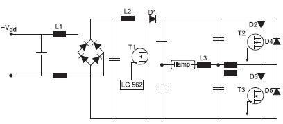Типовая полумостовая схема HID